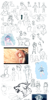 Sketch dump 2014 by BeautySnake
