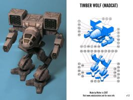 Mad Cat Mech Paper Model by Walter-NEST