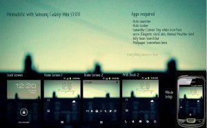 Minimalistic With Samsung Galaxy mini S5570 by joshglad