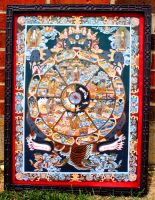 Buddhist Wheel of Life (Re-upload) by Ghostexorcist