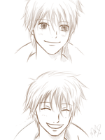 Kazehaya faces sketch by MartyIsi