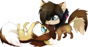 chibi commission for chocolath by Skeleion