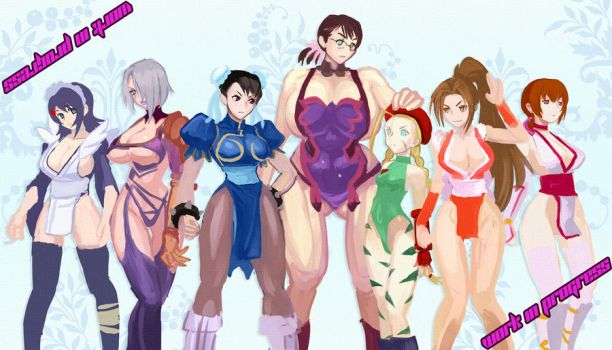 7 fighter girls by zerohime