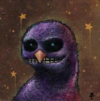 Purple Fuzzy Monster by bryancollins