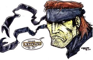 Solid Snake Sketch by TaylorGarrity