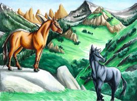 Mountains of the Dragonhorse by GoldeenHerself