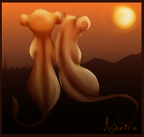 Simba and Nala by Ashmira-Lioness