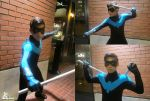 Commission - Pre-52 Nightwing Costume by SnowBunnyStudios
