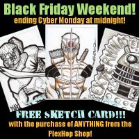 Black Friday Free Sketch Card by MarshallPlex