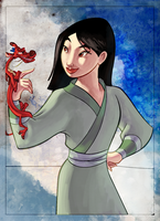 coloring book page - mulan i by naima