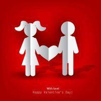 Happy Valentines Day card with heart by FreeIconsFinder