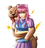 Annie and Tibbers [League of Legends] by DarikaArt