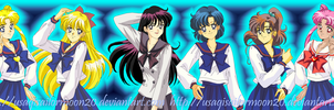 Girls From Sailor Moon!! Old Art To New!! by usagisailormoon20