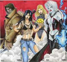 Lady Death HackSlash cards by RyanMKincaid