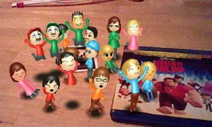 Miis cheer for Wreck-It Ralph by rabbidlover01