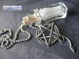 Travel Amulet with Pentagram and Devil Tail by SpellsNSpooks