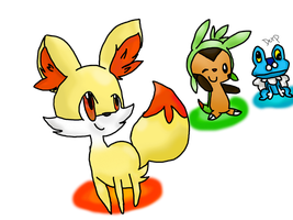 Gen. 6 starters by Kat-The-Piplup