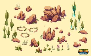 MinoMonsters Desert Assets by hellcorpceo