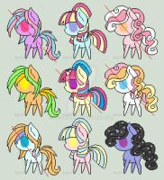 4 Point Pony Adoptables OPEN by Daisy-And-Luigi