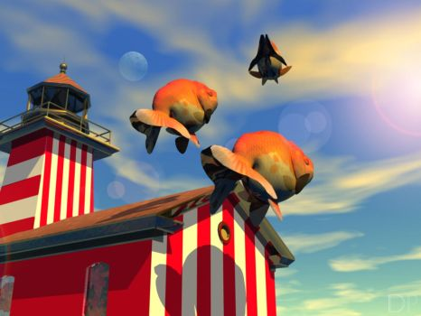 Fishy morning at the lighthous by Rapace4