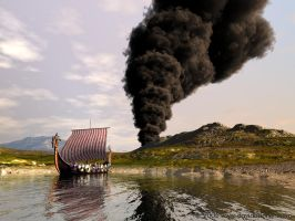 Raiders set fire to tyre dump by davidbrinnen