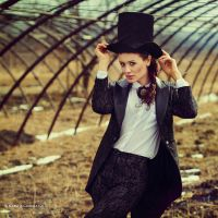 In black hat by NataliaCiobanu