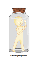 Chibi in a jar by narcolepticpoodle