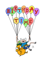 Adventure Time! Birthday Time by flyingscorpions