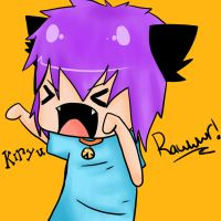 Kiryu say RAWR by Sacredmoonlight