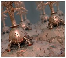 Copper Kettles by bluefish3d