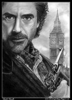 Drawing Sherlock Holmes (Robert Downey Jr.) by iSaBeL-MR