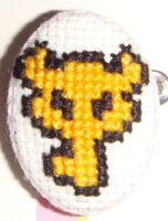 Zelda Key cross stitch pin by pixel8bit