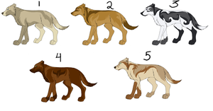 Point adopt - Canines 3 by Kaeda-adoptables