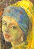 Girl with a Pearl Earing after portrait of the sam by O-Tripp