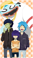 Gorillaz less one by hellfire-shield