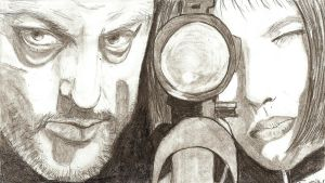 Leon and Mathilda by thierryart