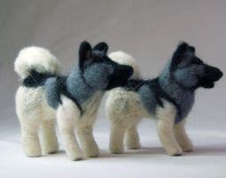 More Needle Felted Elfhounds by The-GoblinQueen