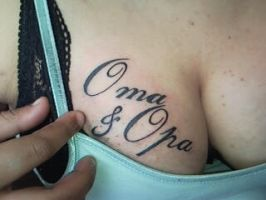 oma opa tattoo by petercliff