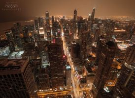 Chicago Skyline by Bakisto