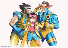 X-men Argue by snow-j