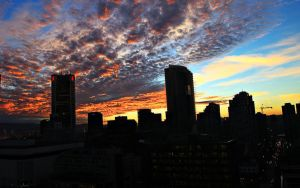 Sky of Fire by megapixelclub
