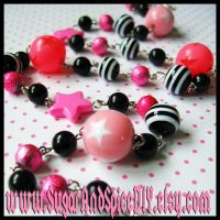 Pink Star CANDY Chain Necklace by SugarAndSpiceDIY