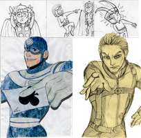 Marvel Sketchdump by nupao