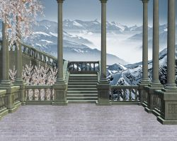 Staircase Premade Background 4 by VIRGOLINEDANCER1
