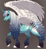 New Horse Character With Wings by Shadowdannie