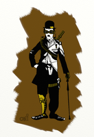 Charlie Chaplin Steampunk by Valengard