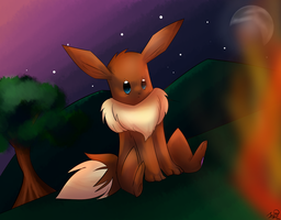 My little Eevee by Kalinel