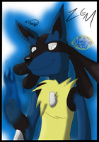 Zem the Lucario by Threehorn