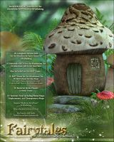 Fairytales for Mushroom Fairy House by cosmosue