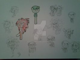 HAPPY TREE FRIENDS - Flaky And Flippy doodles #1 by Music-Lovette123